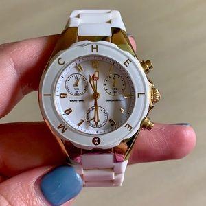 Michele white jelly watch